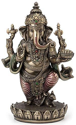 Standing Ganesh Ganesha Hindu Elephant God of Success Statue, 7 1 2-inch