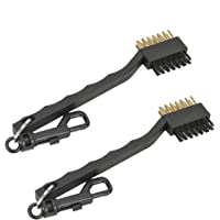 holidaysummer Golf club brush,Dual Golf Club Brush Cleaner Ball Cleaning and Club Groove Cleaner (2 pack)