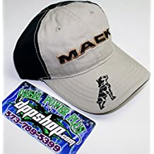 mack bulldog semi truck truckers hat ball cap 18 wheel diesel gear tractor dog