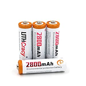 AA High-Capacity 2800mAh Rechargeable Batteries(4-Pack) UTHCracy