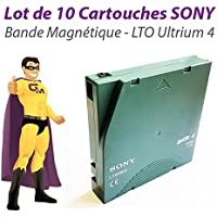 Sony Lot x10 Cartouches LTX800G LTO Ultrium 4 LTO4 800Go 1,6To Lecteur Bande