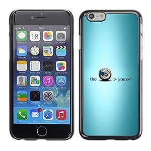 PC/Aluminum Funda Carcasa protectora para Apple Iphone 6 Blue Earth Is Yours Planet Inspiring / JUSTGO PHONE PROTECTOR