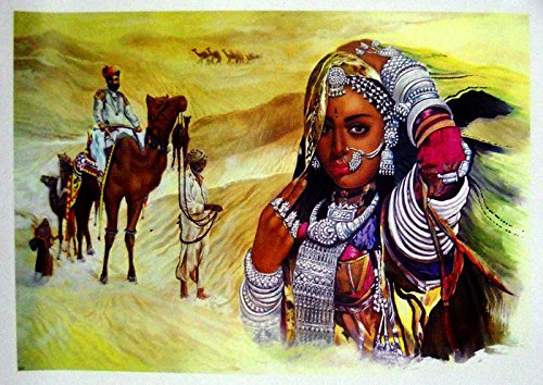 Waiting for Beloved Indian Poster/ Art of India: Reprint on Paper