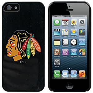 Chicago Blackhawks? - Primary Logo design on a Black iPhone 5s / 5 Thinshield Snap-On Case