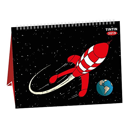2019 Desktop Calendar Tintin The Moon Adventure 15x21cm - Tintin Calendar
