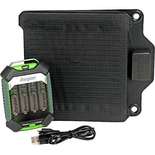 ENERGIZER PowerKeep 12 Portable Rugged Solar BATTERY CHARGER-charges AA or AAA NiMH rechargeable batteries-foldable solar panel by Energizer