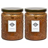 2 Aromatherapy Scented Candles – Harmony – Two 16 Ounce Glass Mason Jar Candles with a 100 Hour Burn Time – A Great Gift and Beautiful Decor Piece!