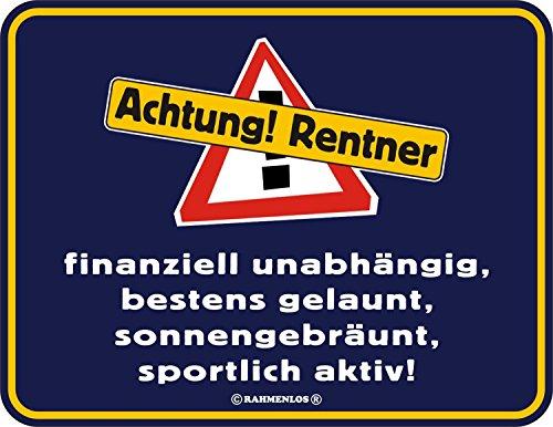 Shirt Zauber Fun Schild - Schild: Achtung Rentner
