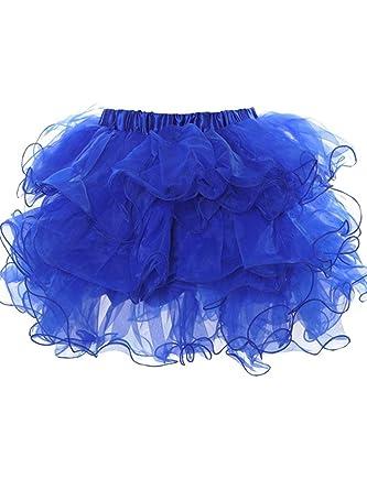 Falda Mini Falda Organza Cortas Faldas De para Mujer Capas Moda ...