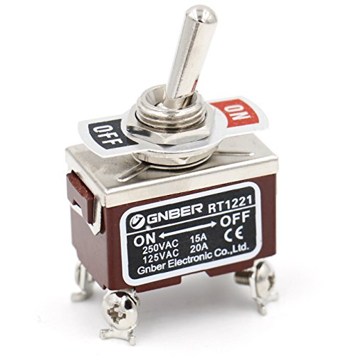 Baomain Toggle switch DPST ON/OFF 2 position 250VAC 15A 125VAC 20A 1/2