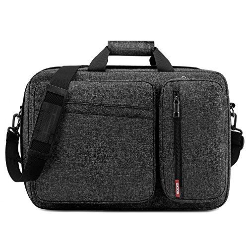 - Convertible Laptop Bag Backpack,SOCKO Multi-Functional Mens Womens Water Resistant Messenger Bag Briefcase Business Travel College Laptop Shoulder Bag for Up to 17.3 Inch Laptop Computer,Dark Grey