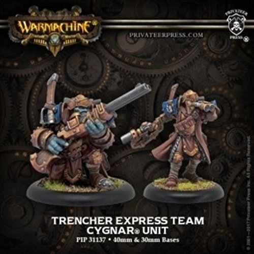 (Privateer Press Trencher Express Team: Cygnar Unit (Resin/Metal) Miniature Game PIP31137)