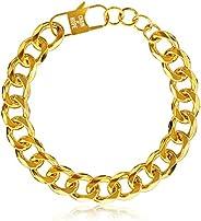 Gold Bracelets for Women, Gold Chain Bracelet, Gold Link Bracelet, Cuban Link Bracelet Gold Charm Bracelet 14k