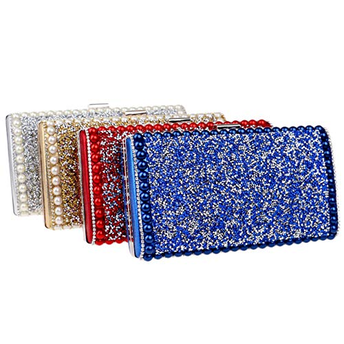 Gold Dress Evening Chain For Purse Womens Handbag Clutch Wedding Bags Diamonds wBH4Rfqw