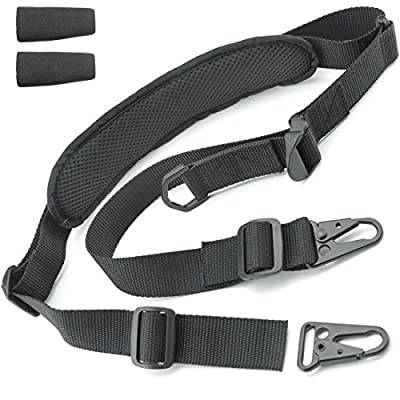 "2 Point Rifle Sling - Fits Any Gun, Easy Length Adjuster, Shoulder Pad, 30""-56""- BDS 2x2 Hunting from Tactical Hero"