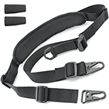 Tactical Hero 2 Point Rifle Sling - Fits Any Gun, Easy Length Adjuster, Shoulder Pad, 30&quot-56&quot- BDS 2x2 Hunting