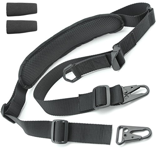 "Tactical Hero 2 Point Rifle Sling - Fits Any Gun, Easy Length Adjuster, Shoulder Pad, 30""-56""- BDS 2x2 Hunting"