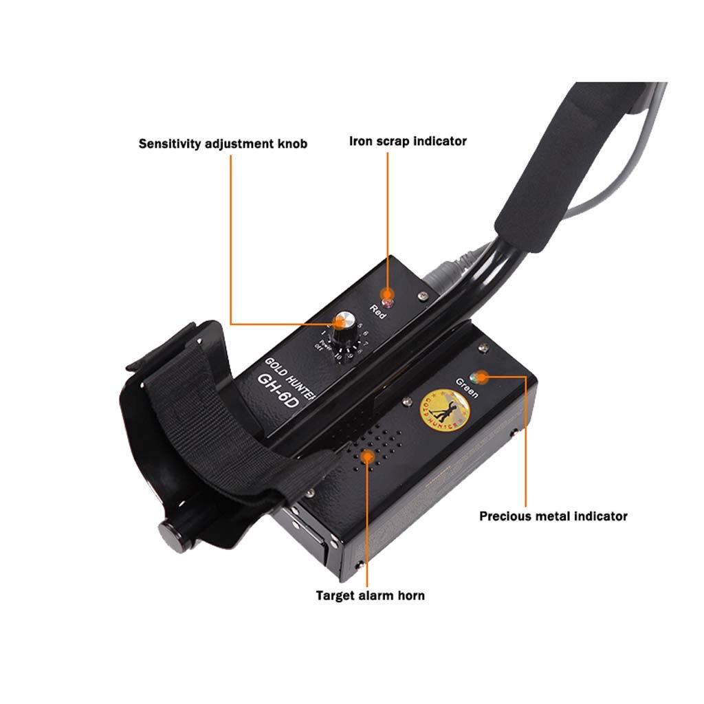 Detector de metales - 48KHZ Horizontal 7.1N.m Profundidad de detección de todo terreno Cazadores de tesoros Modo de reconocimiento con bobina de búsqueda ...