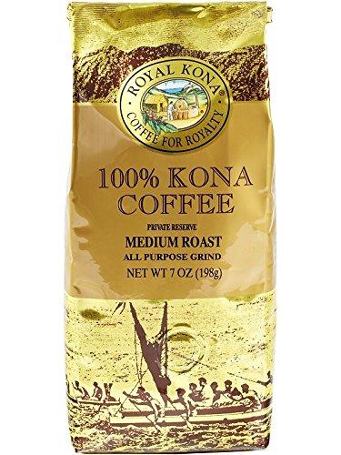 Impressive Kona Ground Coffee, 100% Kona Private Reserve, Medium Roast, 0.44 Pound