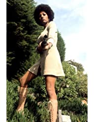 Pam Grier in Coffy sexy 70's fashion boots & skirt shotgun 24x36 Poster