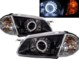 CrazyTheGod 323 BJ 1998-2000 Sedan/Wagon CCFL HID BI-Projector Headligh Headlamp V1X1C BLACK for MAZDA LHD