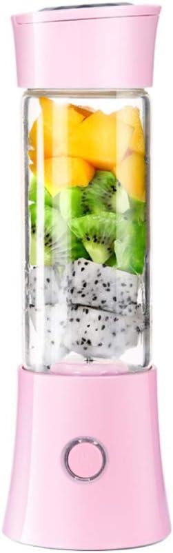 USB Recargable Botella Licuadora Peque/ña para Comida Beb/é Leche Smoothies Blanco Mini Exprimidor El/éctrico Zumo Port/átil Extractor de Jugos para Frutas y Verduras 380ml Batidora Vaso Taza