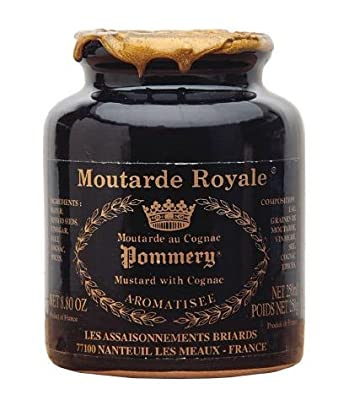 Royal Mustard Pommery Mustard with Cognac in Pottery Crock from Pommery