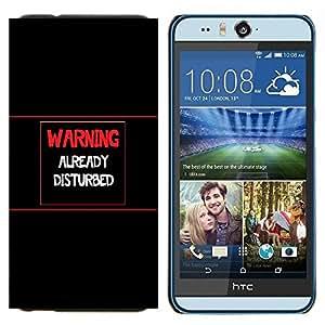 EJOOY---Cubierta de la caja de protección para la piel dura ** HTC Desire Eye M910x ** --Advertencia Ya Disturbed