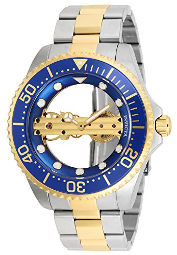 Invicta Men's Pro Diver Mechanical-Hand-Wind Watch with Stainless-Steel Strap, Two Tone, 22 (Model: 26243)