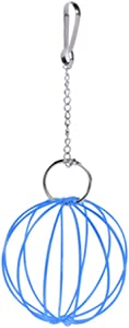 AzsfUfsa53 Small Pets Supplies 8.5cm Hanging Wire Ball Hamster Rabbit Guinea Pig Pet Toy Food Feeder Dispenser - Blue