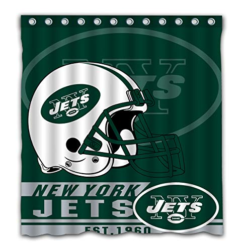 Felikey Custom New York Jets Waterproof Mildew Proof Shower Curtain with Color Bathroom Decoration Size of 66x72 ()