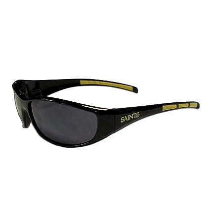 ccbe949e1cf5 Amazon.com : Siskiyou Gifts Co, Inc. NFL New Orleans Saints Wrap Sunglasses  : Sports Fan Sunglasses : Sports & Outdoors