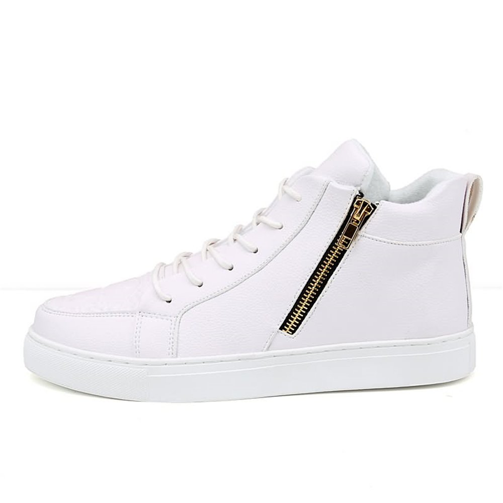 Bw8ItVmg Men's and Women's Fashion Sneakers Casual Style High to Skateboard Solid Color Round Head Big Size with Skateboard to Shoes B07GJ1V741 Fashion Sneakers 363e7c