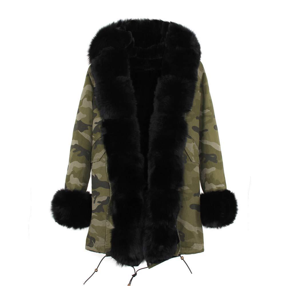 color 13 XL JSGJCOAT Coat High Fashion Luxury Women's Large Collar Hooded Jacket Hooded Winter Warm Outwear