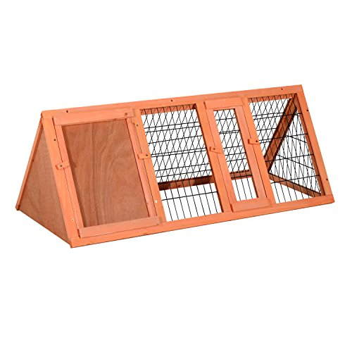 Pawhut Wooden Outdoor A-Frame Rabbit and Small Animal Hutch - Hutch Plan