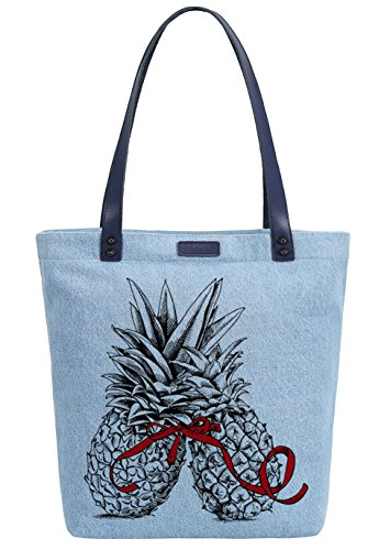 Delle Ananas Amore Spalla Colorante Shopper So'each Denim Bag Tote Donne Borsa Azul pEFqxRnw