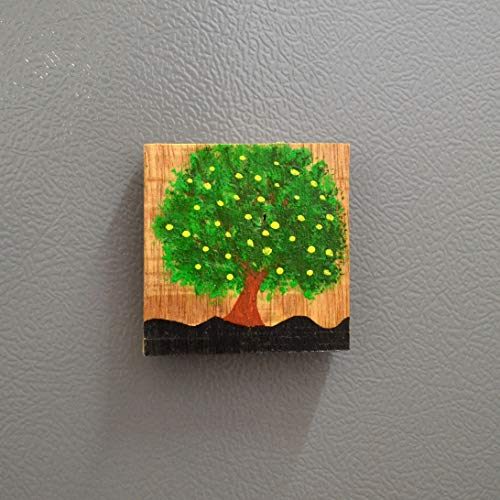 Chinhhari Arts, Decorative Wooden Hand Painted Frame Magnet/Fridge Magnet/Door Magnet/Almira Magnet/Home/Office Decorative ColourFull Items