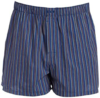 Calvin Klein Men's Woven Relaxed Fit Boxer,Frank Stripe-Aquatic,X-Large