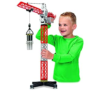DICKIE TOYS Construction Crane With Construction Vehicle Playset