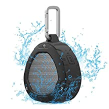 Portable Outdoor Bluetooth Speakers, Nillkin S1 PlayVox Bluetooth 4.0 Wireless Speaker with NFC Compatibility, Built-in Microphone, IPX4 Waterproof - Black
