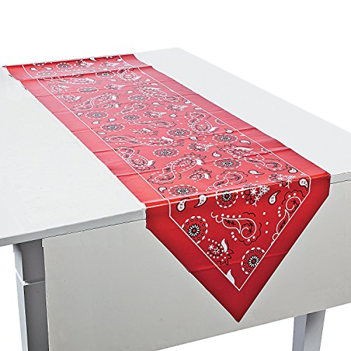 Red Bandanna Table Runner - Party Tableware & Table Covers]()
