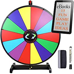 "Tabletop 24"" Fortune Spinning Prize Wheel Portable and Sturdy Lightweight Frame 