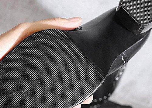 Cuir Long Trapu Coton La Du Véritable Pour Et Bottine Sur De Mode Talons Genou 39 En Chaud Bottes Velours Femmes Épaissie À De wfqnHtnFZ