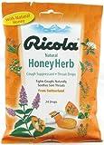 Natural Herbal Cough Drops - Honey Herb 24 Ct (96 Pack)