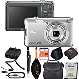 Nikon COOLPIX Silver S3700 20.1 MP Point & Shoot Digital Camera (Frustration Free Packaging) (Basic Kit)