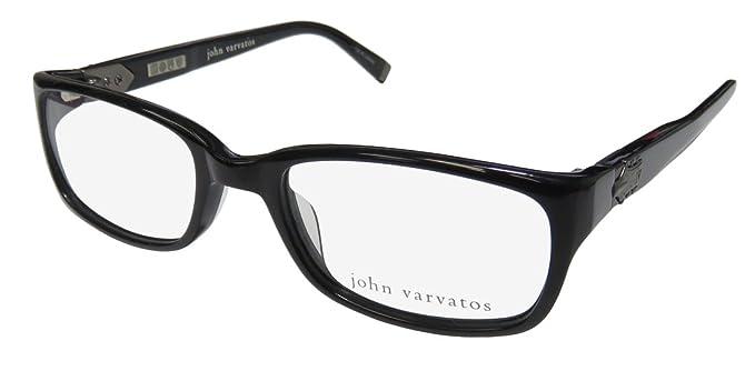2b7a29428a0 Amazon.com  JOHN VARVATOS Eyeglasses V344 Black 51MM  Clothing