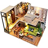 Kisoy Romantic and Cute Dollhouse Miniature DIY House Kit Creative Room Perfect DIY Gift for Friends, Lovers and Families (Nordic Romance)