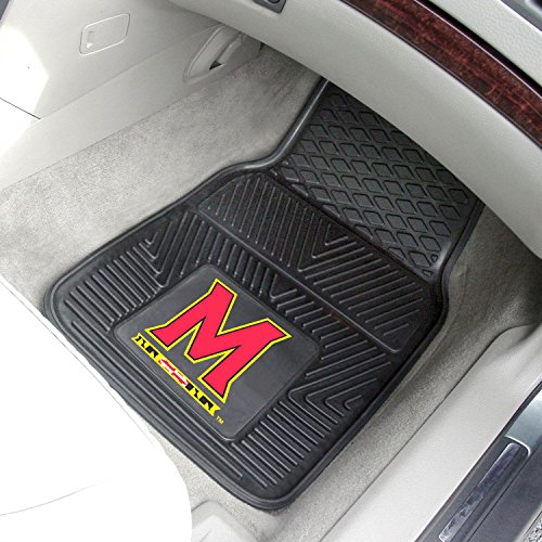 (StarSun Depot 2-pc Vinyl Car Mat Set University of Maryland)