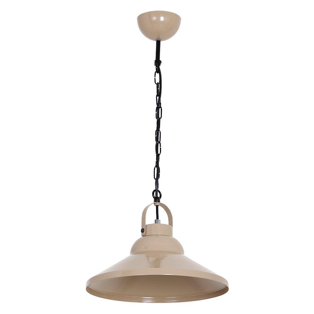 Dekorative Hängeleuchte in Beige Vintage Industrie 1x E27 bis zu 60 Watt 230V aus Metall, für Küche Esszimmer Pendelleuchte Hängelampe Pendellampe Beleuchtung