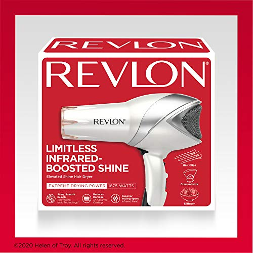 Revlon 1875W Infrared Hair Dryer for Faster Drying And Maximum Shine
